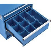 "Divider Kit for 10""H Drawer of Global™ Modular Drawer Cabinet 30""Wx27""D, Blue"
