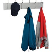 Wall Mounted Coat Rack - Silver