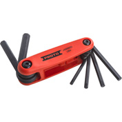 Stanley Black & Decker J4996CG Proto 6 Piece Folding Hex Key Set W/ Comfort Grip 5/32 - 3/8""