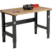 "48""W X 30"" D Shop Top Square Edge Workbench - Adjustable Height - Black"