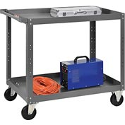 2 Shelf Steel Stock Cart 36 x 24 800 Lb. Capacity