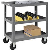 3 Shelf Steel Stock Cart 30 x 18 800 Lb. Capacity