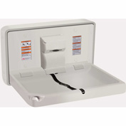 ASI® Horizontal Plastic Baby Changing Station, Light Gray - 9014