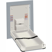 ASI® Vertical Stainless Steel/Plastic Baby Changing Station, Light Gray - 9017