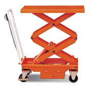 DC Power Hydraulic Double Scissor Lift Cart 1100 Lb. Cap.