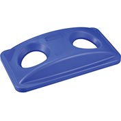 Global™ Bottles & Cans Recycling Lid - Blue