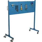 "60"" W Pegboard Panel Rack, Blue"
