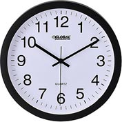 "Black Wall Clock – 12"" - Plastic"