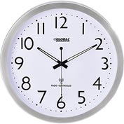 "Atomic Wall Clock – 14"" - Stainless Steel"