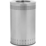 Precision Series® 782329 Imprinted 360 Stainless Steel Receptacle with Open Lid, 45 Gallon