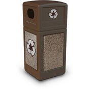 StoneTec® 72235599 Recycle42 Container - Brown w/Riverstone Panels