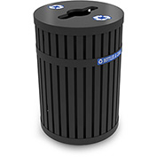 ArchTec Parkview 3 Recycling Container with Recycle Lid, 45 Gallon - Black 728201