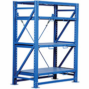 "Vestil VRSOR-54 Heavy Duty Roll-Out 80"" H Starter Unit - 3 Shelf 57"" W x 32"" D"