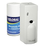 Global™ Automatic Air Freshener Refills w/ Free Dispenser - 12 Refills, Mountain Air