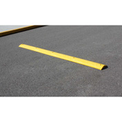 "Yellow Speed Bump with Cable Protection & Hardware - 108"" Long"