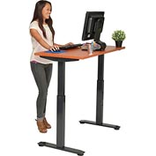 "Interion™ Sit and Standing Desk – Electric Motorized Height Adjustable 48""W X 24""D - Cherry"