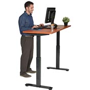 "Interion™ Sit and Standing Desk – Electric Motorized Height Adjustable 60""W X 24""D - Cherry"