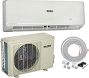 Global Ductless Air Conditioner 9,000BTU Cool 9,000BTU Heat, SEER 21