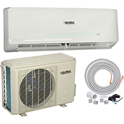 Global Ductless Air Conditioner 12000 BTU Cool, 12000 BTU Heat, SEER 20