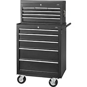 """Global 27"""" 5-Drawer Roller Tool Cabinet W  Ball Bearing Slides & 27"""" Top Tool Chest Combo"""