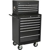 """Global 27"""" 7-Drawer Roller Tool Cabinet W  Ball Bearing Slides 27"""" Top Tool Chest Combo"""