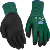 NorthFlex Oil Grip™ Nitrile Coated Gloves, North Safety NF35/8M, Green, 1 Pair - Pkg Qty 12