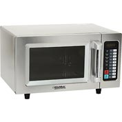 Global Commercial Microwave Oven, 0.9 Cu. Ft., 1000 Watts, Touch Control, Stainless Steel