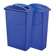 Global™ Dual Recycling 23 Gallon Trash Container System