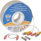 Ultra 100FT RG58/U Male-To-Male BNC Coaxial Video Cable - 100FT, 30.5m, Male–To–Male