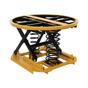 Vestil Spring-Actuated Automatic Elevating Pallet Carousel Table