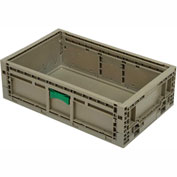 "Folding Transport Container KD2415-07 23-15/16""L x 15""W x 7-7/16""H Gray - Pkg Qty 5"