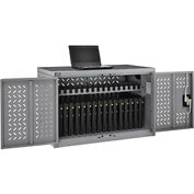 16-Device Charging Cabinet for Chromebooks Laptops and iPad Tablets - Unassembled
