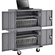 32-Device Charging Cart for Chromebooks Laptops and iPad Tablets - Unassembled