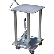 Vestil Stainless Steel Hydraulic Post Lift Table HT-05-1818A-PSS 18x18 500 Lb.