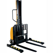 "Vestil Narrow Mast Stacker SLNM-63-AA Adjustable Forks & Legs 1000 Lb. Cap. 63"" Lift"