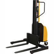 "Vestil Narrow Mast Stacker SLNM15-63-AA Adjustable Forks & Legs 1500 Lb. Cap. 63"" Lift"