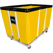 "6 BU-Standard-Duty Basket Trucks By Royal - Vinyl Liner - 32""Wx48""Dx36""H 4 Swivel Casters-Yellow"
