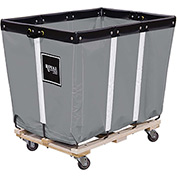 "18  BU-Standard-Duty Basket Trucks By Royal - Vinyl Liner - 32""Wx48""Dx36""H 4 Swivel Casters-Gray"