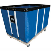 "20 BU-Heavy-Duty Basket Trucks By Royal - Vinyl Liner - 32""Wx48""Dx36""H 4 Swivel Casters-Blue"