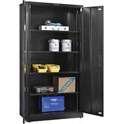 "Global&#8482 EZ Assemble Steel Storage Cabinet 36""W x 18""D x 72""H Black"