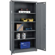 "Global&#8482 EZ Assemble Steel Storage Cabinet 36""W x 18""D x 72""H Gray"