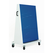 "39x18x63"" Trolley - 3 Perfo Panels - 3 Louvered Panels"