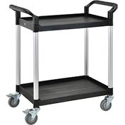 High Capacity 2 Shelf Utility Cart 440lb Cap