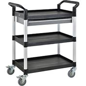 3 Shelf Utility Tool Trolley W/One Drawer  550lb cap