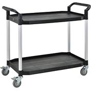 Large 2 Shelf Utility Cart 440lb Cap