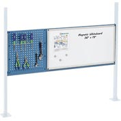 "Mounting Kit with 18""W Pegboard and 36""W Whiteboard for 60""W Workbench- Blue"