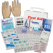 Global Industrial First Aid Kit - 10 Person, ANSI Compliant, Plastic Case