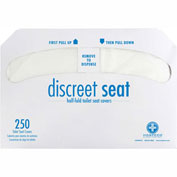Hospeco Discreet Seat® 1/2 Fold Toilet Seat Covers - 250 Covers/Pack, 20 Packs/Case - DS-5000