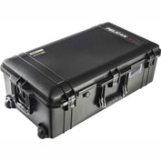 "Pelican 1615AIR Wheeled Watertight Case With Pick-N-Pluck Foam, 32-9/16 ""x 18-3/8"" x 11"", Black"
