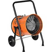 Electric Salamander Heater - 30 KW Portable Fan Forced 480V - 3 Phase 36 Amps